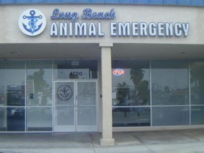 The outside clinic front for Long Beach Animal Emergency